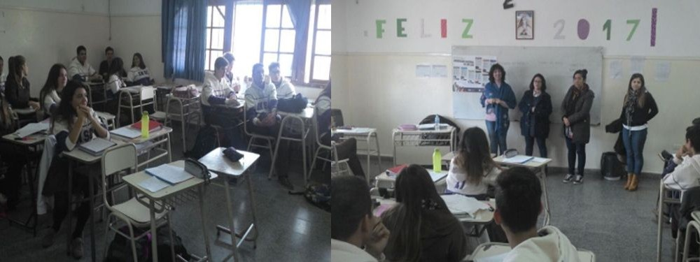 En Villa Mercedes recorren escuelas promocionando carreras