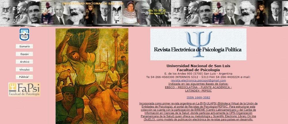 Nuevo número de la Revista Electrónica de Psicología Política