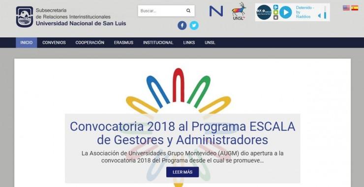 Relaciones Interinstitucionales relanzó su Sitio Web