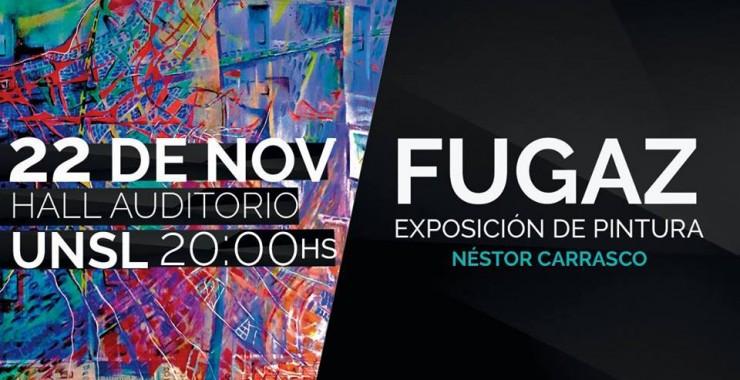 Néstor Carrasco expone FUGAZ