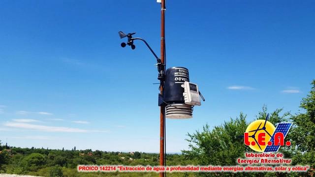 Instalan una estación meteorológica en Merlo