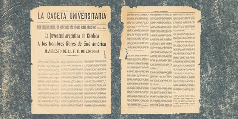 Palabras originales del Manifiesto Liminar de 1918
