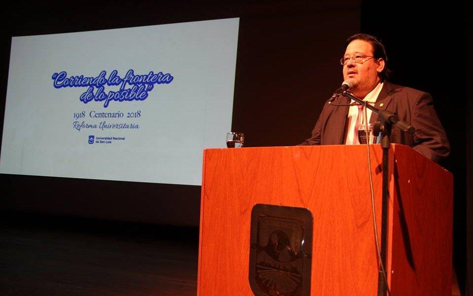 Declaraciones del Rector de la UNSL sobre la actualidad del conflicto con las universidades