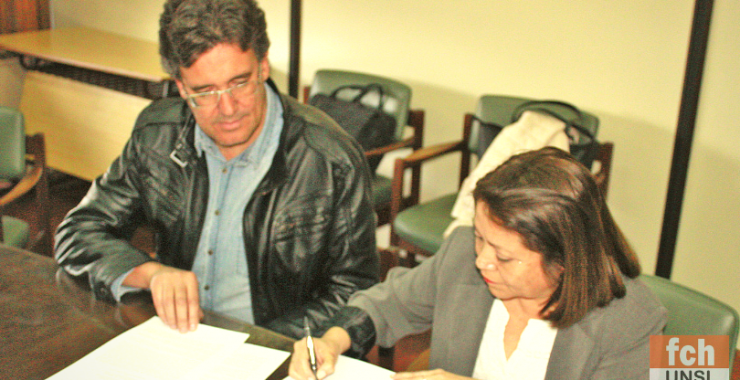 Firma de acuerdos con la Asociación Mutual del Personal de la UNSJ