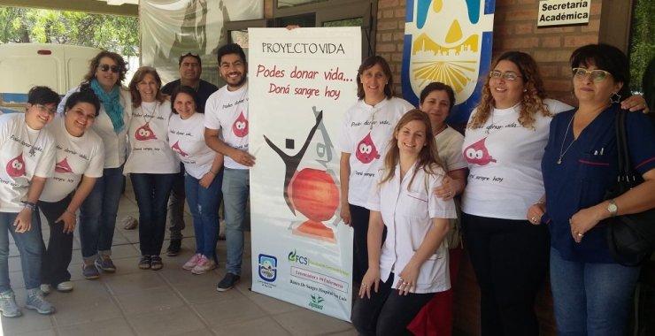 Concientizaron sobre la donación de sangre en Merlo