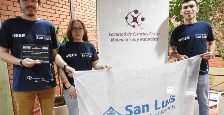 La IEEE UNSL fue reconocida con el premio a la Rama Ejemplar 2018