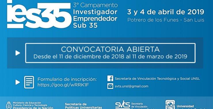 Convocatoria abierta para participar del Tercer Campamento IES35/2019