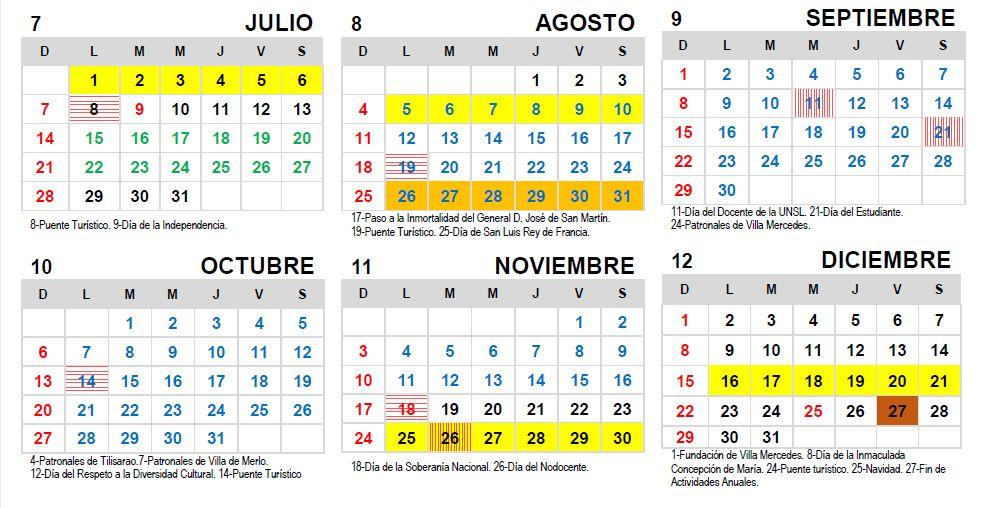 Nueva modificación en el Calendario Académico 2019