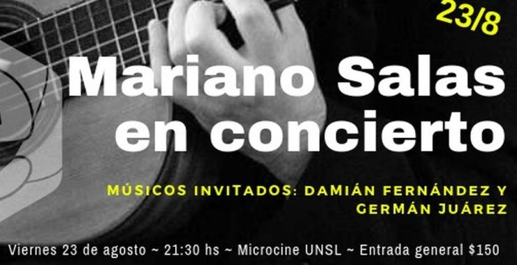 Mariano Salas en concierto junto a músicos invitados
