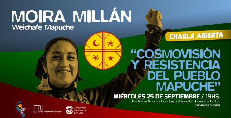 La activista mapuche Moira Millán disertará en Merlo