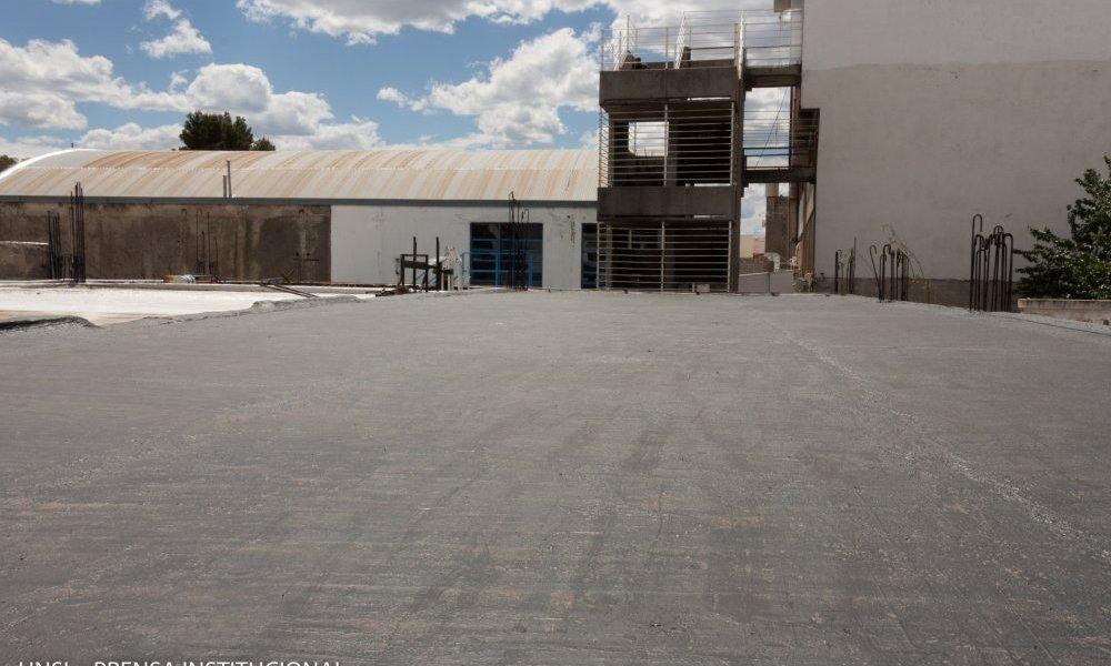 Refaccionaron el techo del polideportivo de la UNSL