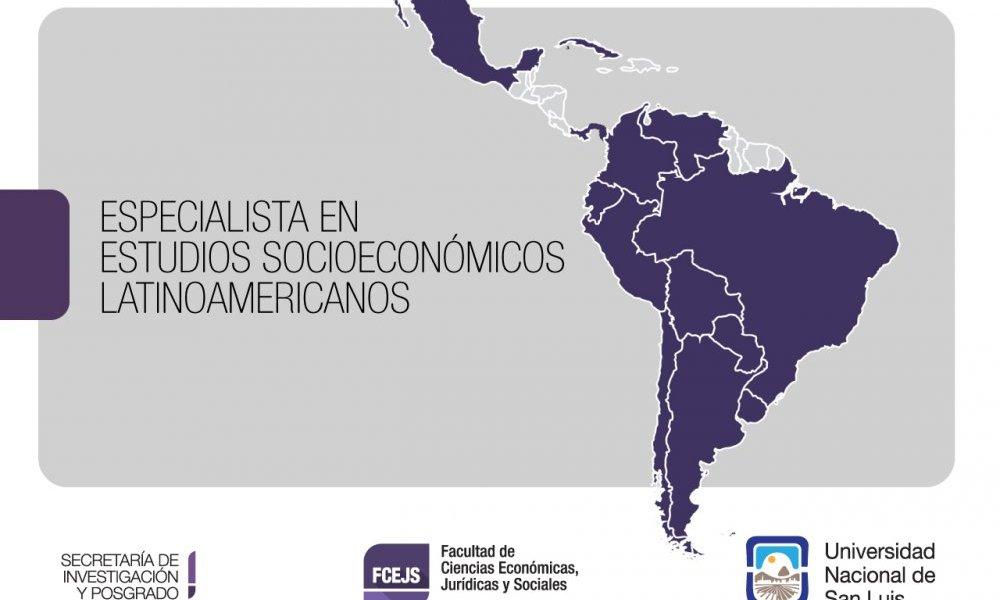Reconocimiento a la Especialización en Estudios Socioeconómicos Latinoamericanos