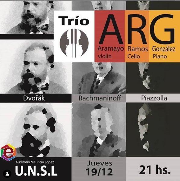 Trío ARG en Concierto de Violín, Cello y Piano