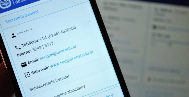 Suman más vías de contacto online con Secretarías de la UNSL