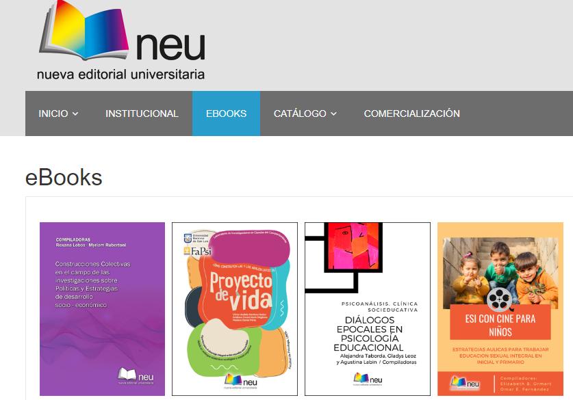 La editorial de la UNSL incluye nuevos títulos ebooks