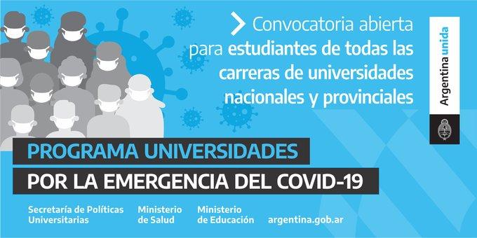Convocatoria al programa Universidades por la Emergencia del Covid-19