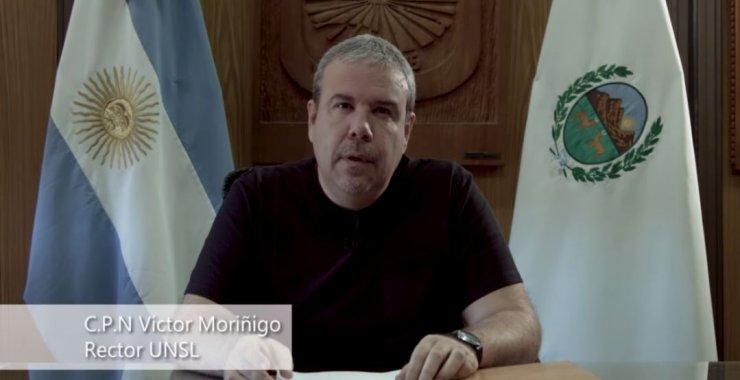 Mensaje del Rector de la UNSL frente a la pandemia por COVID-19