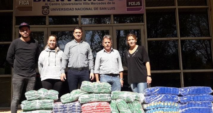 El Municipio de Villa Mercedes recibió donaciones de la UNSL