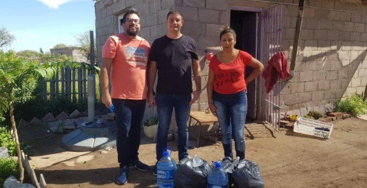 Dos barrios de San Luis recibieron donaciones de la UNSL