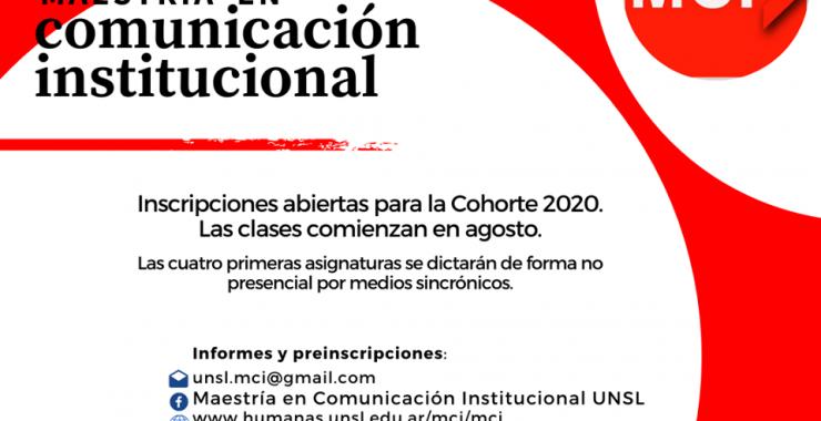 Abren las inscripciones a la Maestría en Comunicación Institucional
