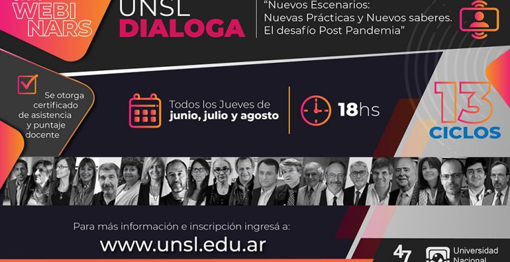 La UNSL inicia un Ciclo de Webinars