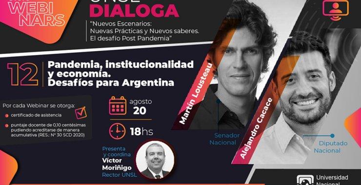 12° webinar: «Pandemia, institucionalidad y economía. Desafíos para Argentina»