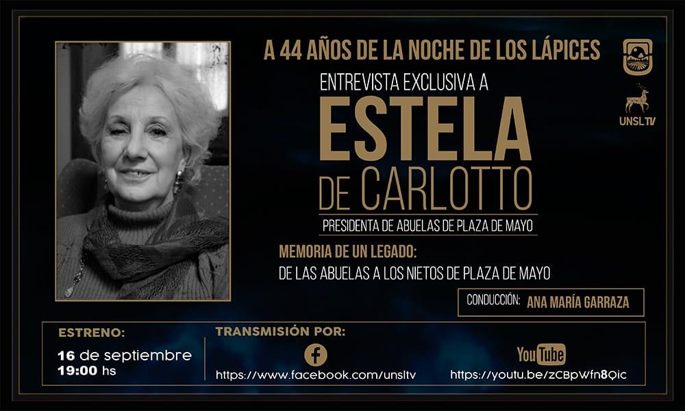 UNSL TV estrena sus especiales con una entrevista a Estela de Carlotto