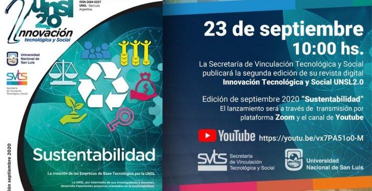 Lanzan la segunda edición de la Revista iUNSL 2.0 de Innovación Tecnológica y Social