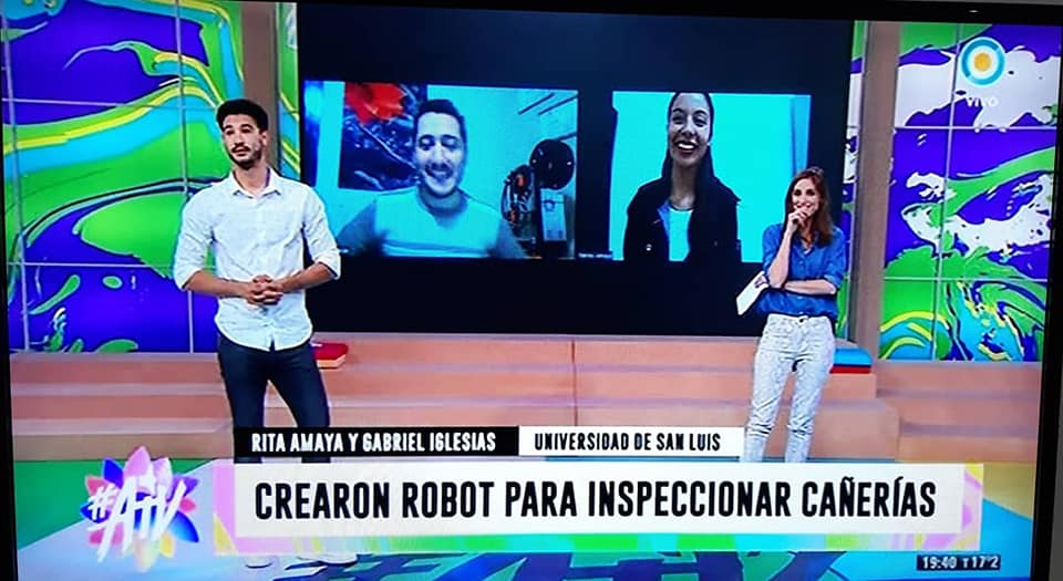 Ingenieros de la UNSL mostraron el desarrollo de un robot en la Tv Pública