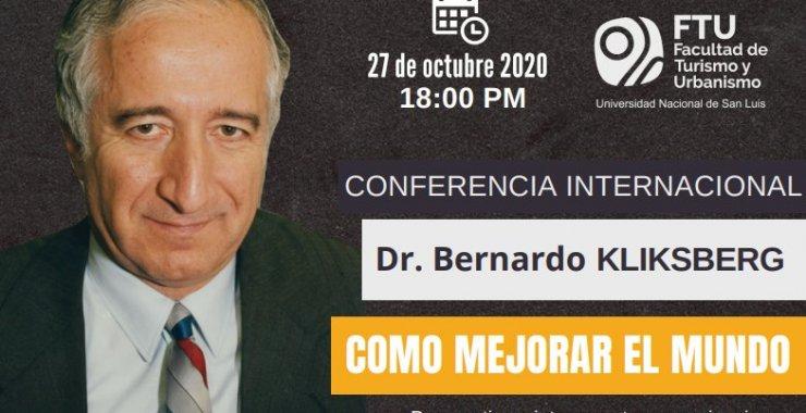 Conferencia internacional del Dr. Bernardo Kliksberg
