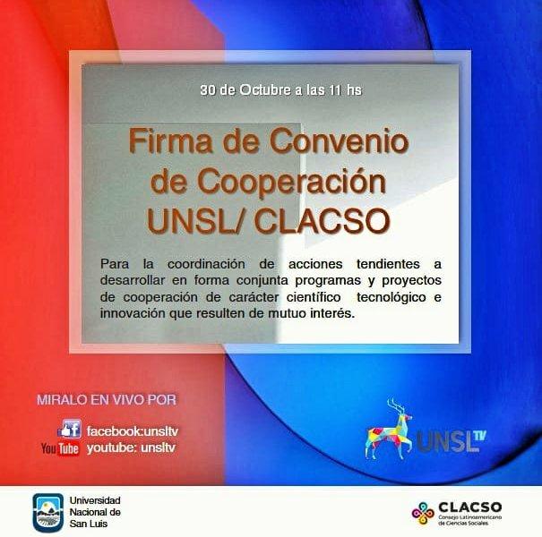 Firmarán un convenio de cooperación entre la UNSL y CLACSO