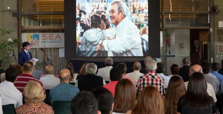 En el Día del trabajador y la trabajadora Nodocente homenajearon a Alberto Geraiges