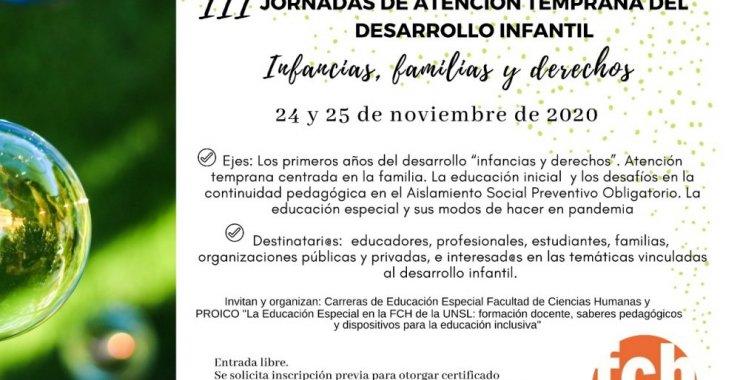 Jornadas de Atención Temprana del Desarrollo Infantil