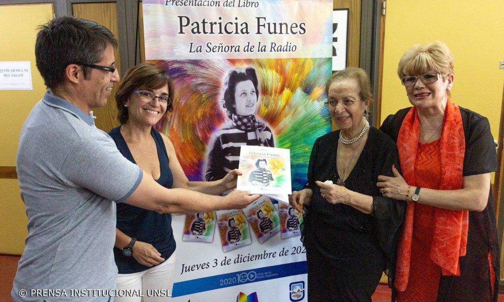 Presentaron «Patricia Funes. La Señora de la Radio», nuevo libro de la Editorial Universitaria