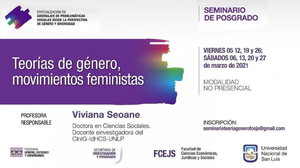 Seminario de posgrado: «Teorías de género, movimientos feministas»