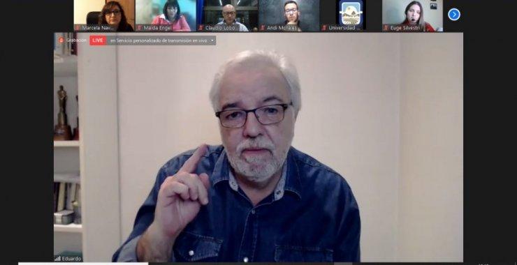 Con Eduardo Aliverti finalizaron los ciclos de diálogos sobre el campo profesional de la Locución