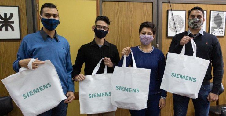 Estudiantes de la UNSL premiados por Siemens