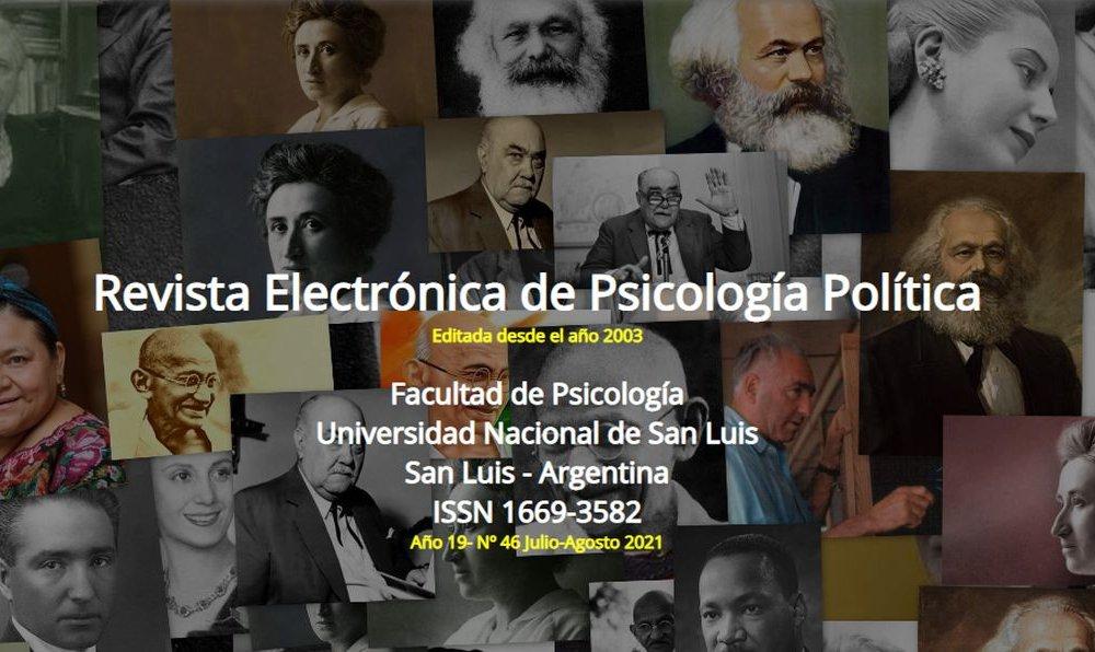 Publican el último número de la revista electrónica de Psicología Política